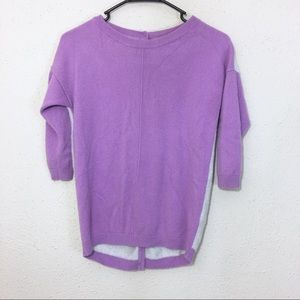 Boden 100% Cashmere Button Back Sweater Size 2